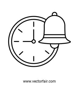 time watch with bell line  style icon