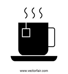 tea cup silhouette style icon