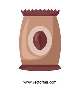 coffee product packing bag icon