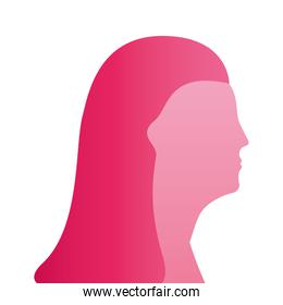 pink woman figure silhouette style icon
