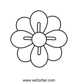 beautiful flower garden line style icon