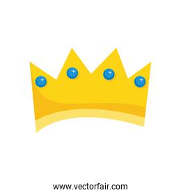 cartoon golden crown monarchy and royalty icon