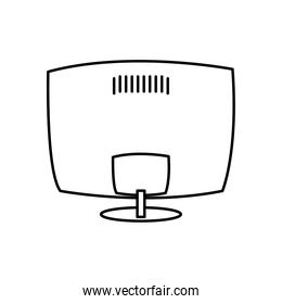 monitor screen device isolated icon white background linear