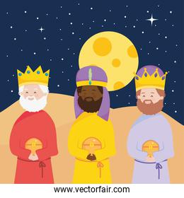 nativity, manger characters wise kings with gift Christ birth