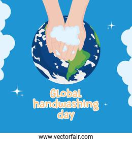 global handwashing day, awareness campaign wash hands and planet