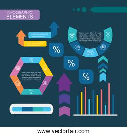 infographic elements design with graphic bar chart