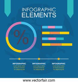 infographic elements design with colorful bars