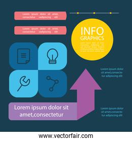 infographic elements design with related icons