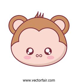 Kawaii monkey animal cartoon vector design