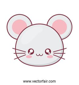 Kawaii mouse animal cartoon vector design
