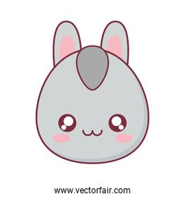 Kawaii donkey animal cartoon vector design