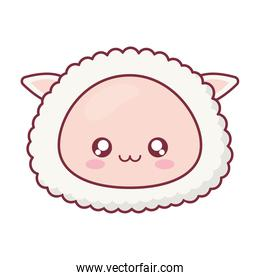 Kawaii sheep animal cartoon vector design
