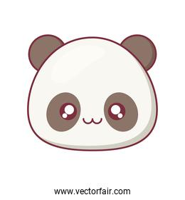 Kawaii panda animal cartoon vector design