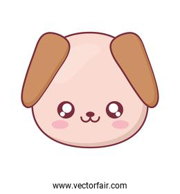 Kawaii dog animal cartoon vector design