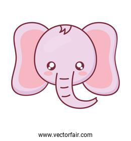 Kawaii elephant animal cartoon vector design