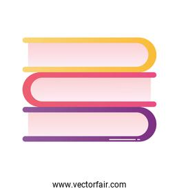 Isolated education books vector design