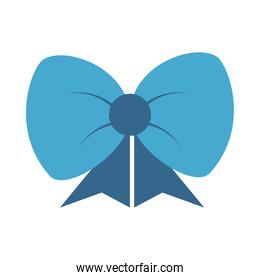 blue gift bow decoration ornament flat icon