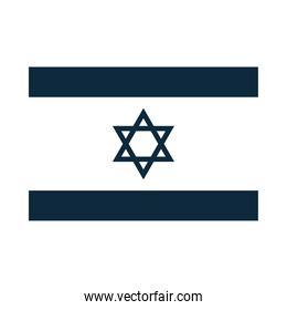 official flag of Israel national symbol silhouette icon