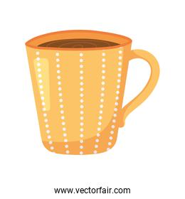 tea, dotted teacup beverage isolated design