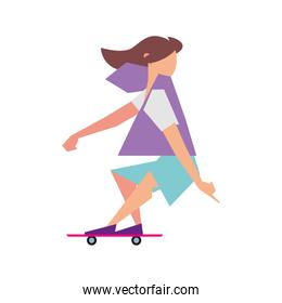 hipster man in skateboard activity sport lifestyle outdoor