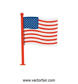 icon of american flag with pole