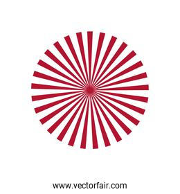 circle with red and white stripes design