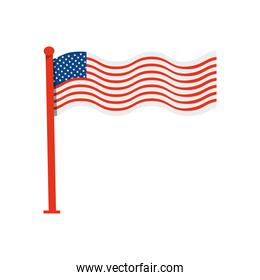 icon of united states of america flag with pole