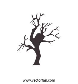 icon of dry tree, flat style