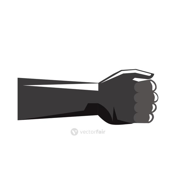 hand human fist silhouette icon