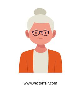 old woman avatar character icon