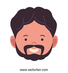young man with beard avatar chararacter