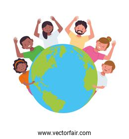 group of diversity people around the world