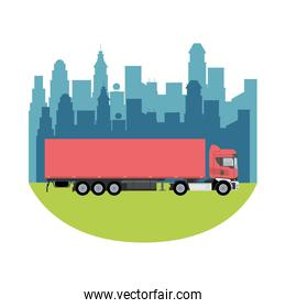 red truck car vehicle mockup icon