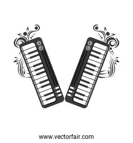pianos instruments musical emblem icon
