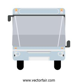 white bus front public transport vehicle icon