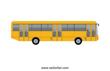 yellow bus public transport vehicle icon