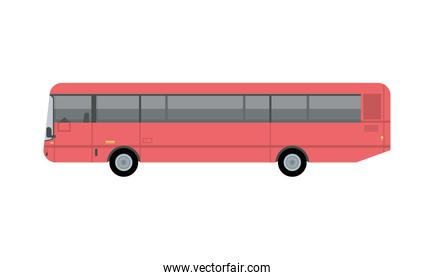 red bus public transport vehicle icon