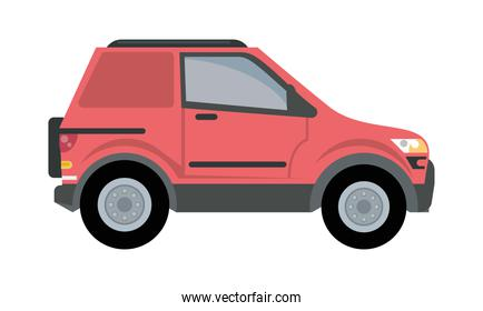 red camper car vehicle mockup icon