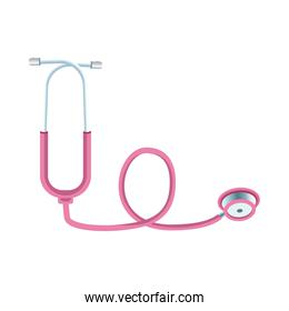 pink stethoscope cardio medical tool icon