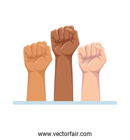 hands human fist isolated icons