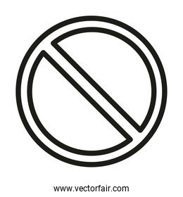 user interface prohibited button linear style
