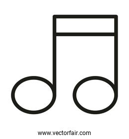 user interface music melody button linear style