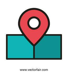 user interface gps navigation pointer location linear and fill style