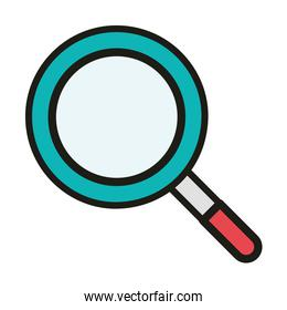 user interface search magnifying glass linear and fill style