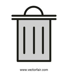 trash can or delete web button linear and fill style