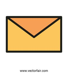 user interface email message communication linear and fill style