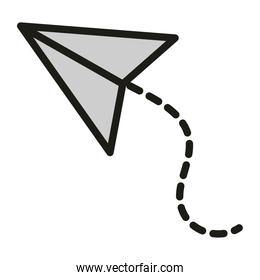 paper plane creativity concept linear and fill style