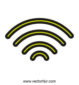 user interface internet wifi signal linear and fill style