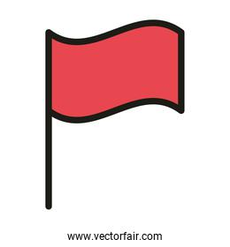 flag in pole insignia linear and fill style
