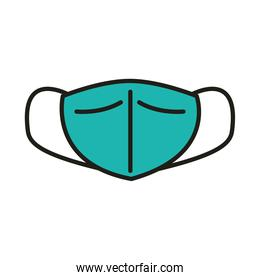 virus protection surgical mask prevention line and fill icon